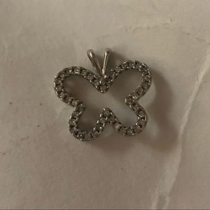 Jewelry - 14k White Gold 1/2 Carat Diamond Pendant